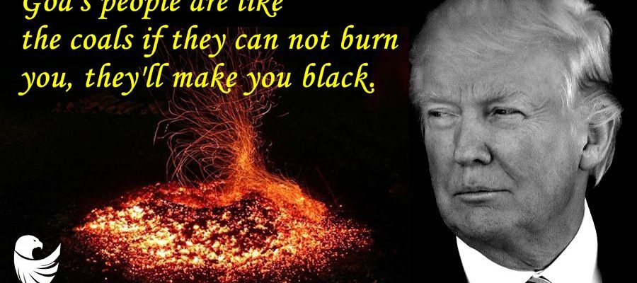 God's people are like the coals if they can not burn you, they'll make you black.