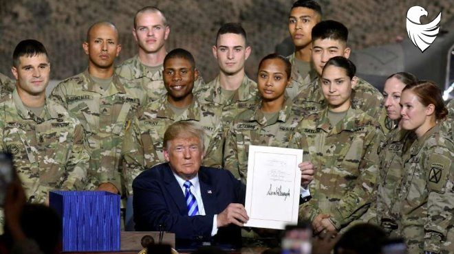 American army likes Donald Trump