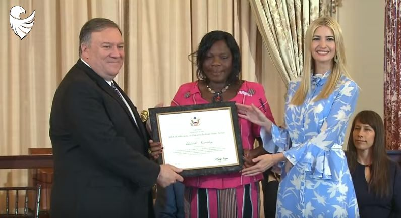 Ivanka Trump, Mike Pompeo Present Awards During Human Trafficking Event