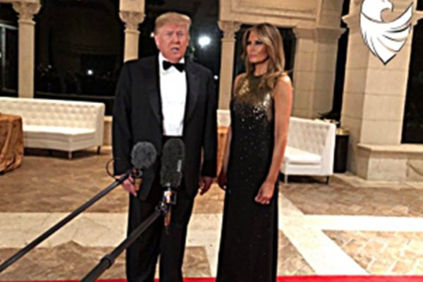 Trump and the First Lady look more than beautiful